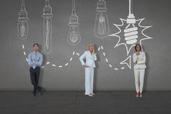 Composite image of business people standing Royalty Free Stock Image