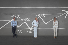 Composite image of business people standing Royalty Free Stock Photos