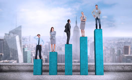 Composite image of business people standing Royalty Free Stock Images