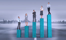 Composite image of business people standing Stock Photography
