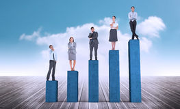 Composite image of business people standing Royalty Free Stock Photography