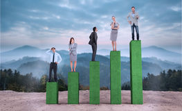 Composite image of business people standing Stock Photos