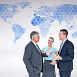 Composite image of business people standing and talking Royalty Free Stock Photography