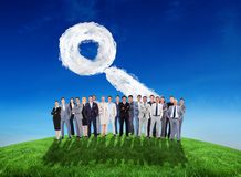 Composite image of business people standing up Stock Image