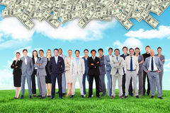 Composite image of business people standing up Stock Photos