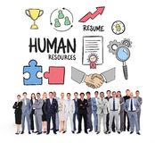 Composite image of business people standing up Stock Photo