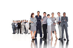 Composite image of business people Stock Photo