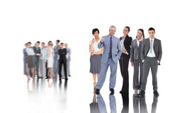Composite image of business people Royalty Free Stock Images