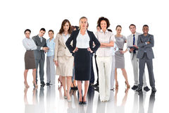 Composite image of business people Stock Image
