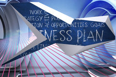 Composite image of business plan on abstract screen Stock Images