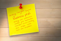 A Composite image of business plan Royalty Free Stock Photography