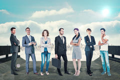 Composite image of business team Royalty Free Stock Photos