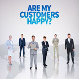 Composite image of business team Stock Photography