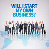 Composite image of business team Royalty Free Stock Photography