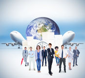 Composite image of business team Royalty Free Stock Image