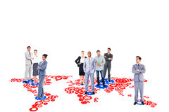 Composite image of business team Royalty Free Stock Images
