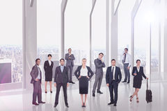 Composite image of business team Stock Images