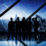 Composite image of business team Stock Photos