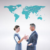 Composite image of business team arguing Stock Images