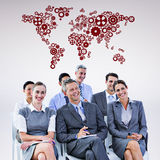 Composite image of business team during a meeting Royalty Free Stock Photography