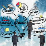 Composite image of business team writing Royalty Free Stock Photo