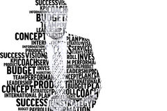Composite image of businessman in buzzwords. Businessman in buzzwords against white background with vignette Royalty Free Stock Image