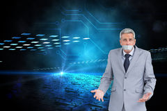 Composite image of businessman gagged Royalty Free Stock Image