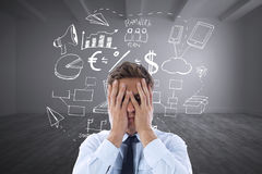 Composite image of businessman with a headache Stock Image