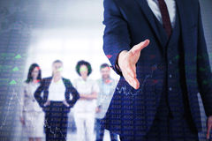 Composite image of businessman ready to shake hand Stock Photography