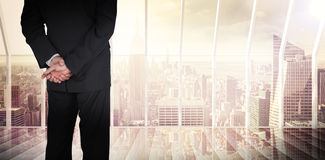 Composite image of businessman standing Stock Photography