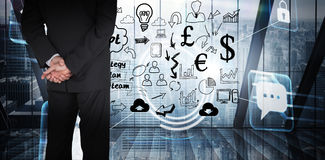 Composite image of businessman standing Royalty Free Stock Image