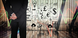 Composite image of businessman standing Royalty Free Stock Photos
