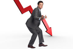 Composite image of businessman standing with arms out Stock Photos