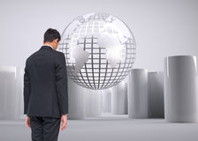 Composite image of businessman turning his back Stock Image