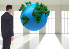 Composite image of businessman turning his back Royalty Free Stock Photo