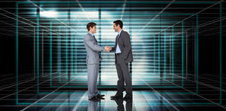 Composite image of businessmen shaking hands Royalty Free Stock Photos