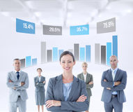 Composite image of businesswoman colleagues arm crossed Royalty Free Stock Images