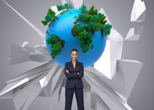 Composite image of businesswoman smiling at the camera Royalty Free Stock Photo