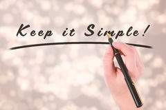 Composite image of businesswomans hand writing with fountain pen Royalty Free Stock Image