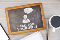 Composite image of call for volunteers Royalty Free Stock Photo