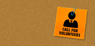Composite image of call for volunteers. Call for volunteers against orange Royalty Free Stock Photography