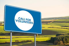 Composite image of call for volunteers Royalty Free Stock Photos