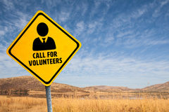 Composite image of call for volunteers. Call for volunteers against wheat field Stock Image