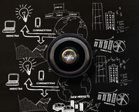 Composite image of camera lens Royalty Free Stock Photos
