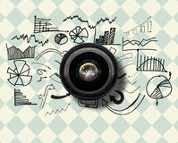 Composite image of camera lens Stock Image