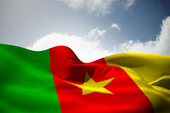 Composite image of cameroon flag waving Stock Image
