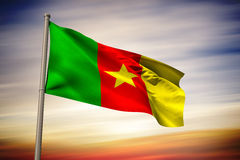Composite image of cameroon national flag Stock Photos