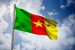 Composite image of cameroon national flag Stock Image