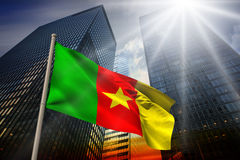 Composite image of cameroon national flag Royalty Free Stock Image