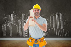 Composite image of carpenter Royalty Free Stock Image